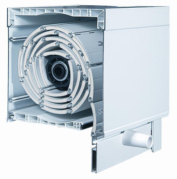 Cajón PVC y tapas aluminio extrusión