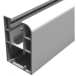 Guias PVC tamaño 30*60. En color blanco, curvada para decoracion y con dos felpas incluidas