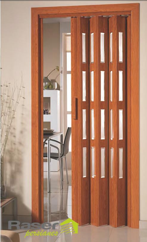 Puertas plegables puestas pvc y madera raser persianas - Puerta plegable bano ...