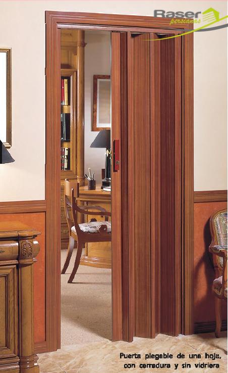 Puertas plegables puestas pvc y madera raser persianas for Puertas calle pvc precios