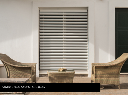 ORIENTA blind – all slats open