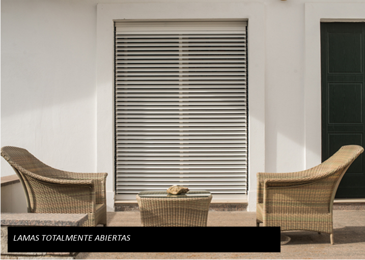 ORIENTA blind with all the open slats