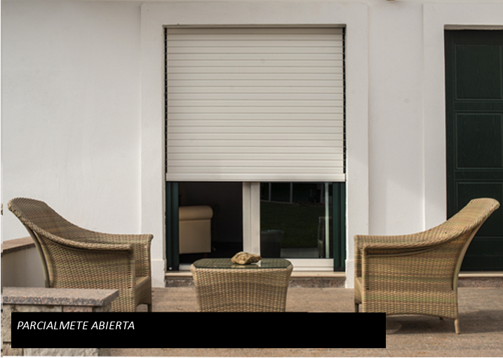 The ORIENTA blind partially open