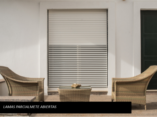 ORIENTA blind – slats partially open